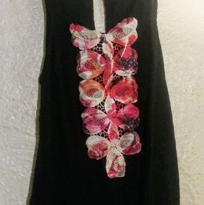 Solemio Sun Slip Dress Black Medium